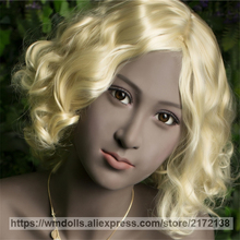 WMDOLL Silicone Sex Doll Head Oral Sex Coke Skin TPE Love Doll Real Head Fit For 140cm-172cm Adult Toys