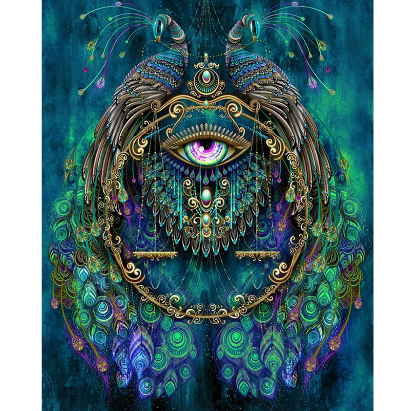 Green peacock and eyes diamond Embroidery diy diamond painting mosaic diamant painting 3d cross stitch pictures H475 in Diamond Painting Cross Stitch from Home Garden