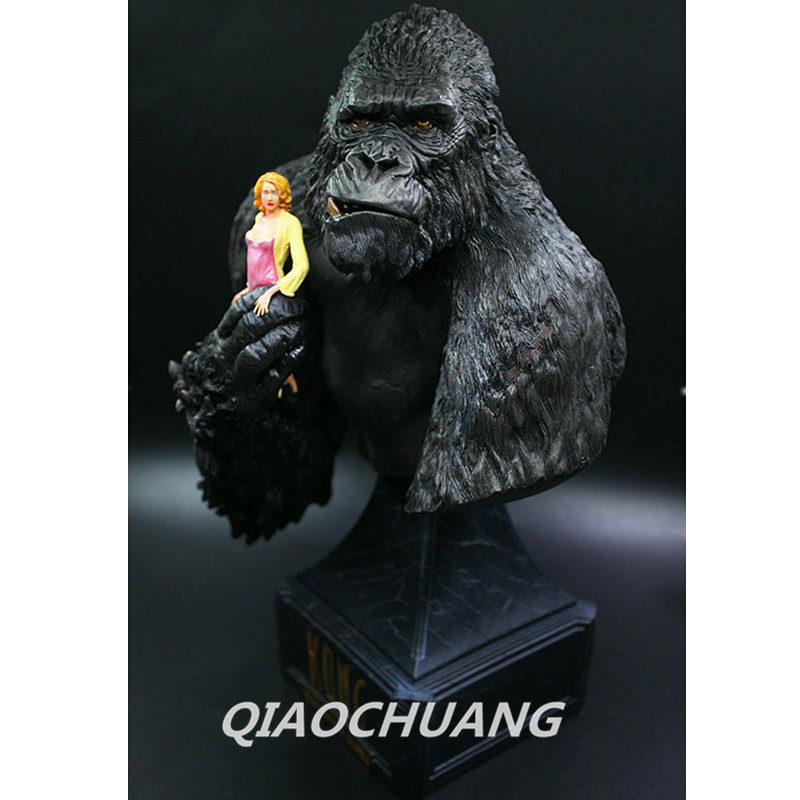 Legendary Orangutans Bust 12 King Kong & Anne Statue Decoration Painted Resin Annie Half-Length Photo Or Portrait Model Toy avengers captain america 3 civil war black panther 1 2 resin bust model panther statue panther half length photo or portrait