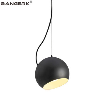 Nordic Design LOFT สไตล์โคมไฟแขวนเหล็กสีดำโมเดิร์นไฟ LED จี้โคมไฟตกแต่งร้านอาหารแสง Hanglamp