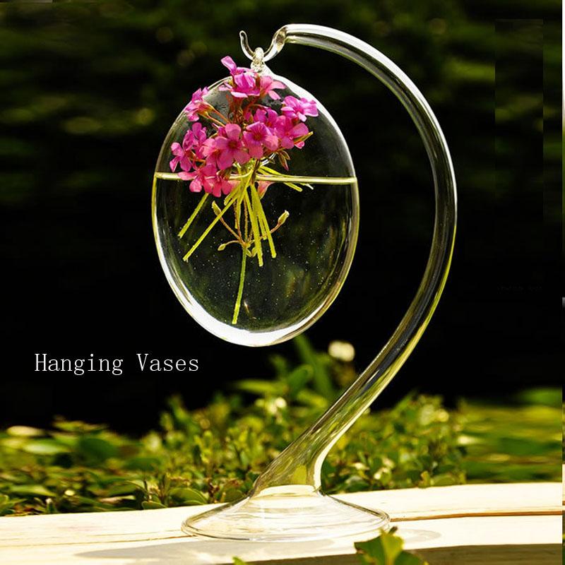 claro floreros colgantes decoracin del hogar floreros de cristal hechos a mano flores personalizada colgando florero