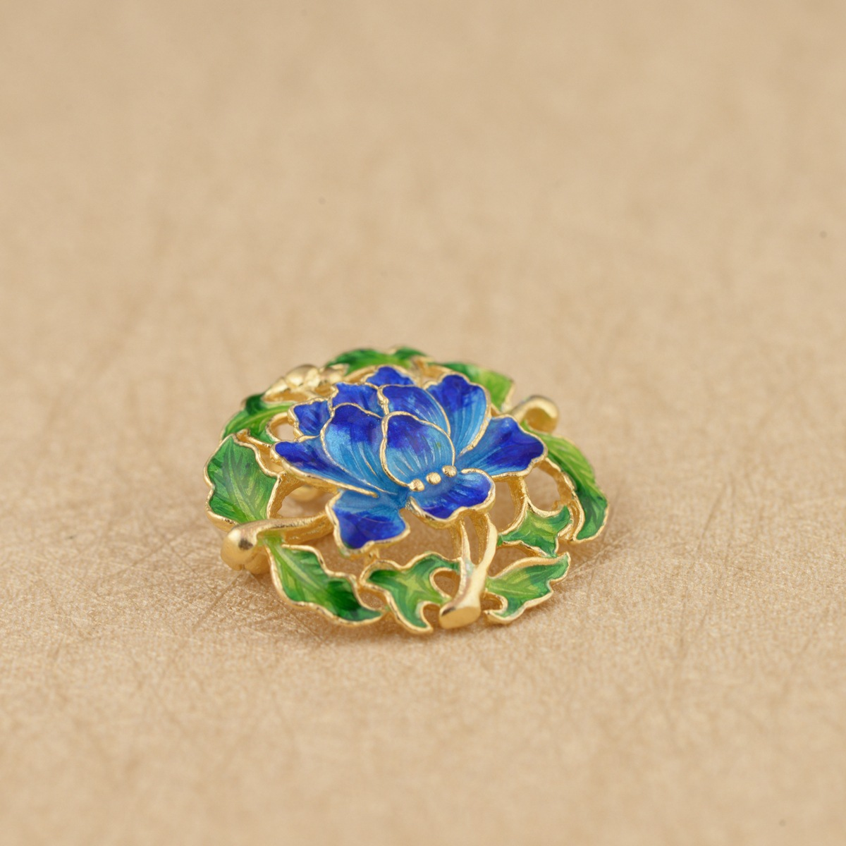 Thai Silver Peony Blossom Brooch Pendant Handmade Flower Silver Brooches Flowers Chinese Style Pin Luxury Jewelry 2.7cm SBH0003