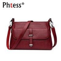 PHTESS 2017 Luxury Handbags Women Bags Designer Crossbody Brand Ladies Leather Messenger Bag Feminina Bolsa Female