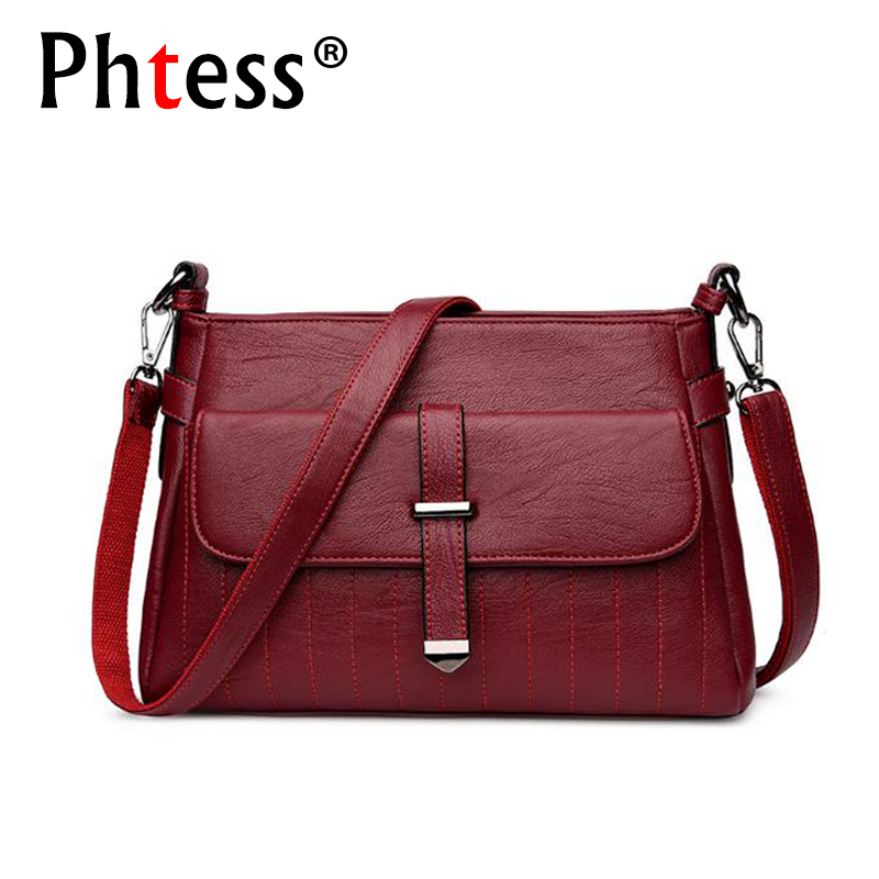 PHTESS 2018 Luxury Handbags Women Bags Designer Crossbody Brand Ladies Leather Messenger Bag Feminina Bolsa Female Shoulder Bag imido 2017 luxury brand designer women handbags leather shoulder bag retro tote daily bags for ladies gray bolsa feminina hdg008