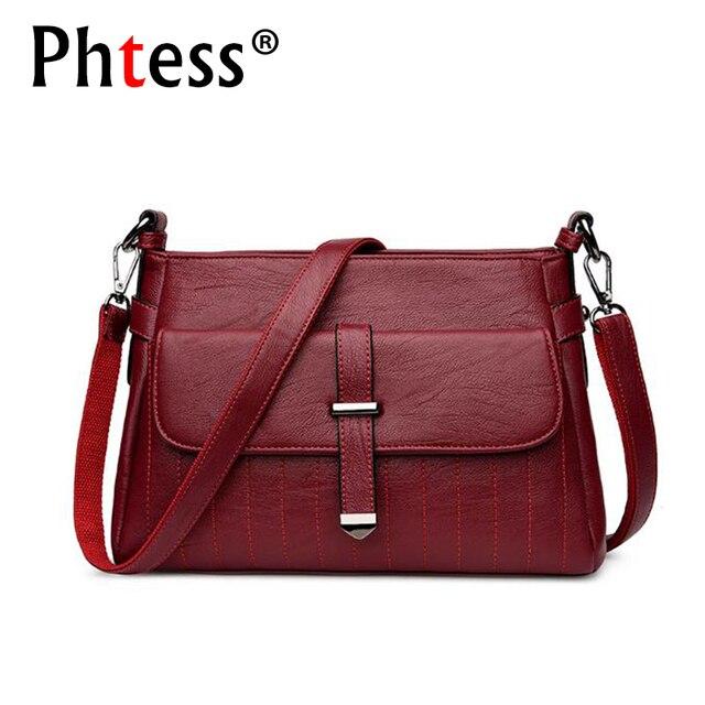 PHTESS 2018 Luxury Handbags Women Bags Designer Crossbody Brand Ladies  Leather Messenger Bag Feminina Bolsa Female bdc9148cce77f