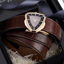 Men's leather belt youth automatic buckle casual trend Korean version of the personality of the wild leather pants belt