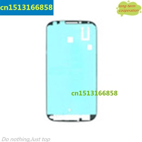 50 Pieces Lot Depan Perumahan Bingkai Bezel Plat Adhesive Sticker Untuk Samsung Galaxy S4 I9500 I9505 I337 OEM