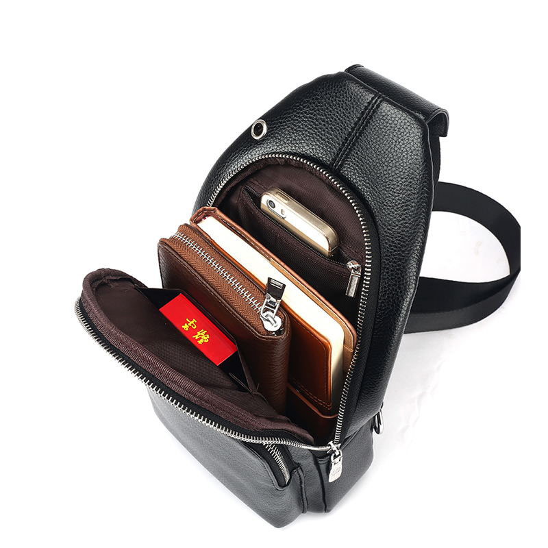 FD BOLO Brand Bag Men Small Travel Chest Pack Leather Men Messenger Bags  Single Rucksack England Chest Bag Leather Shoulder Bag-in Crossbody Bags  from ... e679a5ad0b816