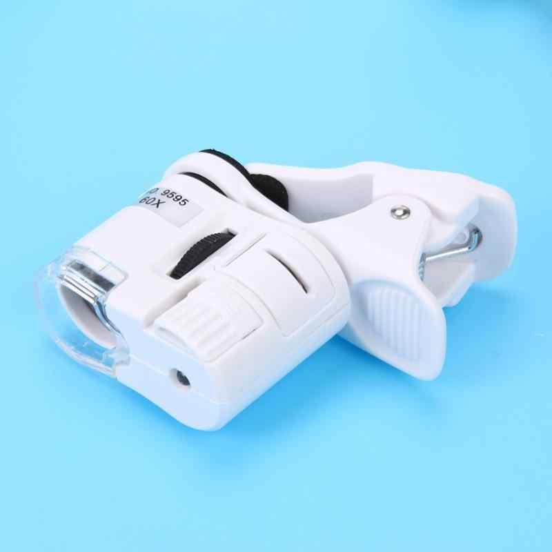 Universal LED 60X กล้องจุลทรรศน์แว่นขยายเลนส์มาโครซูมออปติคอล Micro กล้องคลิป Optical Instrument
