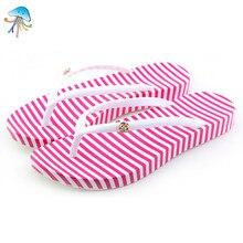 font b Women s b font Stripe Beach Flip Flops Sandals 2016 Summer Lady Antiskid