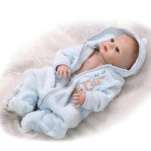22 Inch Full Silicone Reborn Baby Doll Boys Brinquedos Lifelike Interactive Baby Dolls for Sale Bebe Bonecas