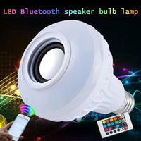 Smart E27 RGB Bluetooth Speaker LED Bulb Light 12W Dimmable RGBW Wireless Music Playing Leds Lamp