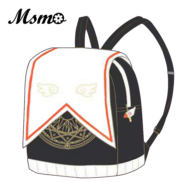 Anime Card Captor CardCaptor Sakura Uniforme Randoseru Mochila Cute Magical Girl Clow Card Mochilas escolares para adolescentes