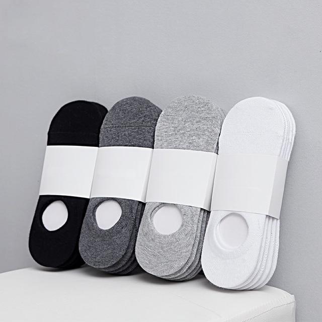 5Pair/lot Fashion Happy Men Boat Socks 1