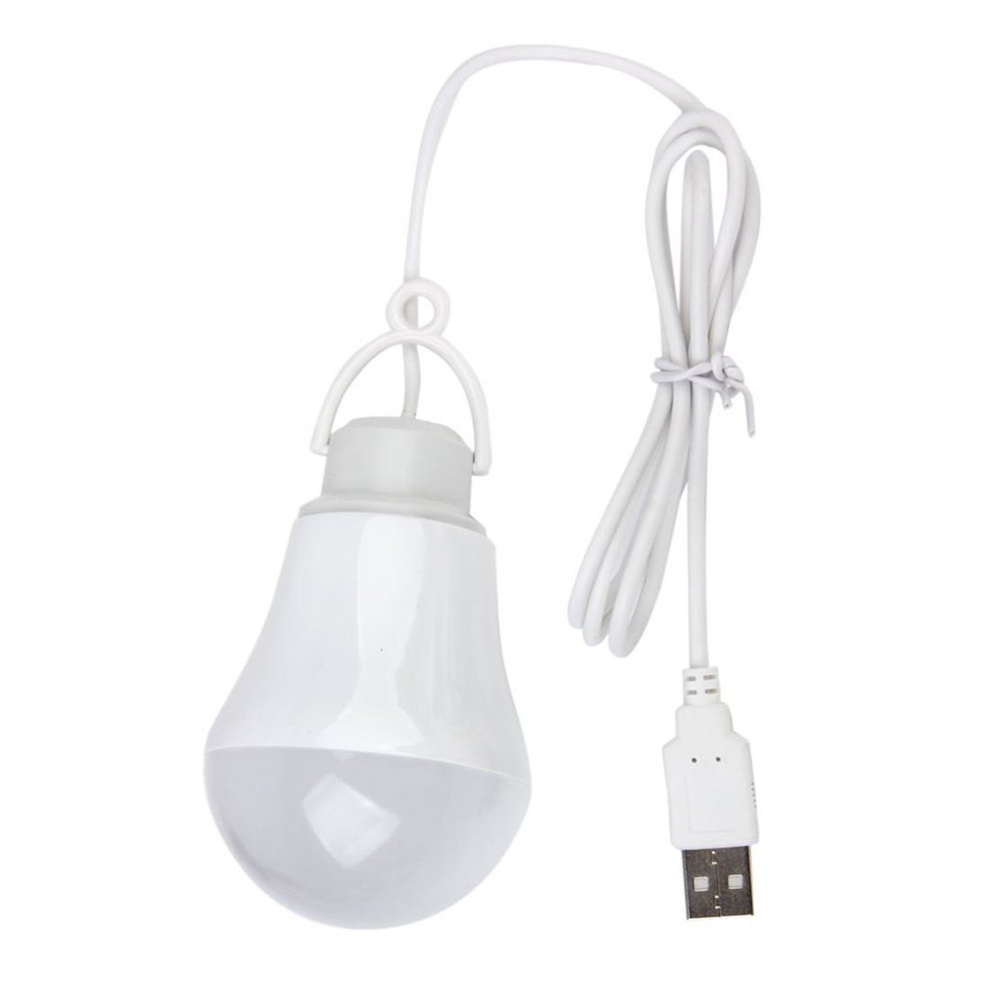 DC5V 5W LED Bulb USB lamp Portable White light for Outdoor Laptop (White) купить