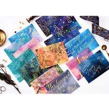 Полупрозрачный конверт 3 шт./лот серной кислоты бумажный конверт лист Звезда Принц лазерное украшение для карты свадебное письмо-приглашение