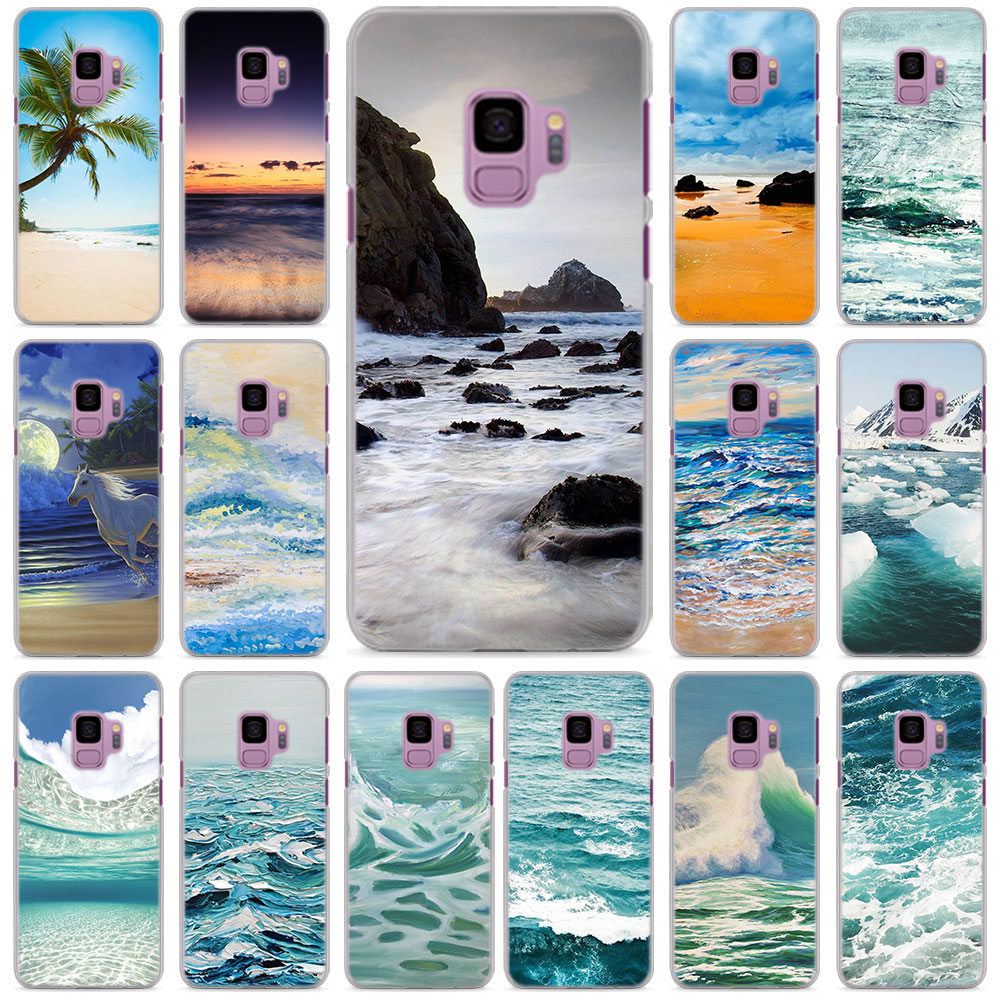 summer the sea beach Phone Cases for Samsung Galaxy S6 S7 Edge S8 S9 Plus Note 8 Note 9 hard PC phone case cover
