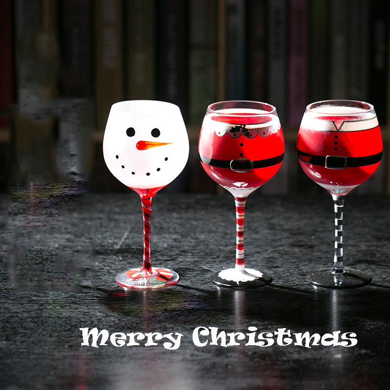 Days Of Christmas Wine Glasses Hand Painted