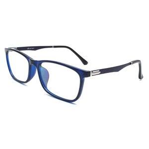 Image 1 - TR 90 플라스틱 안경 프레임 남자 패션 광학 근시 처방 명확한 컴퓨터 안경 프레임 x2005 프레임 안경