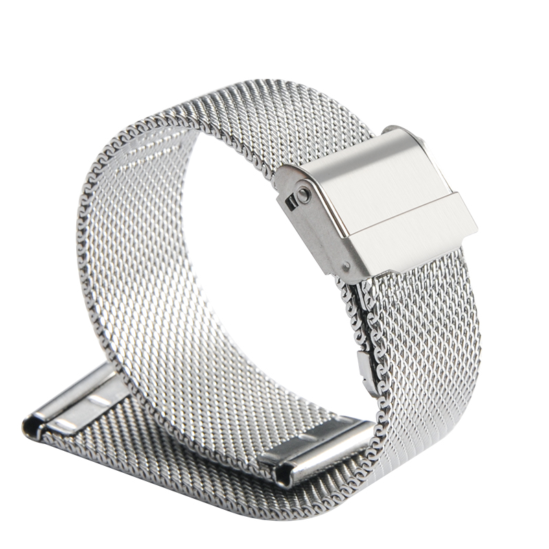 MEIKANGHUI Metal watch watch band men and women new Milan steel mesh belt stainless steel fine steel mesh belt