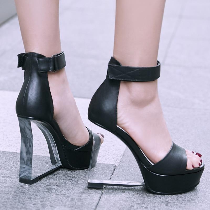 Cheville Stylesowner De Pink Zapatos Peep Plate En Lacets Haute Mode Plastique Pompes Mujer Cales Light Toe Talons Femmes Top noir Chaussures forme rrqRPpx