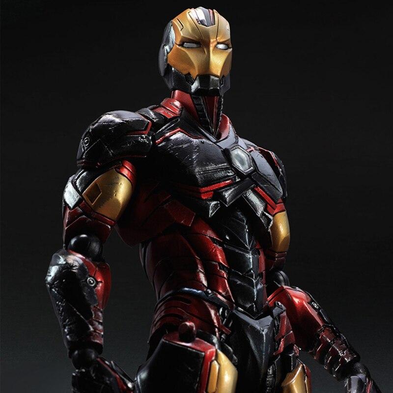 ФОТО New Arrival Play Arts Kai Iron Man Super Hero Tony Stark PA PVC heroes figures Action Figure Doll Toys Kids Gift PA0013
