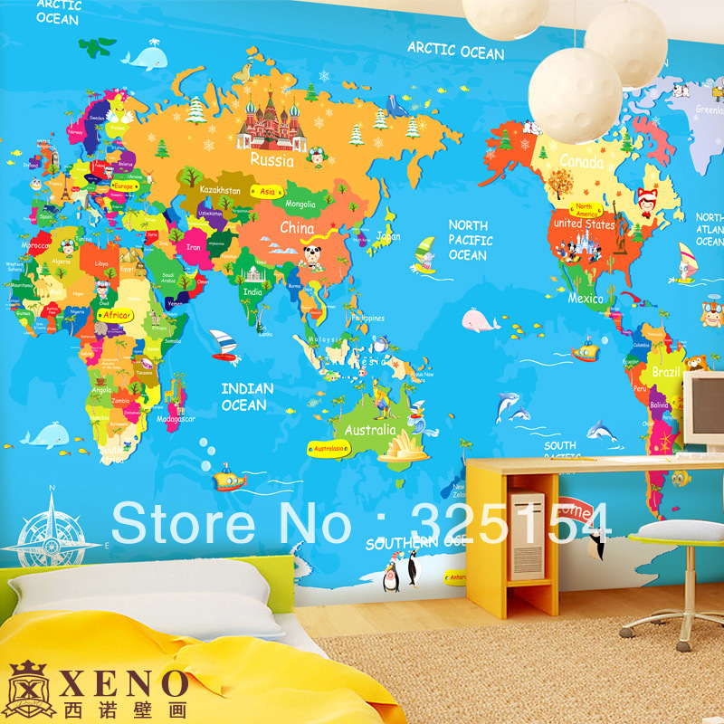 The large mural wallpaper of childrens bedroom background wall the large mural wallpaper of childrens bedroom background wall cartoon wallpaper map of the world in wallpapers from home improvement on aliexpress gumiabroncs Image collections