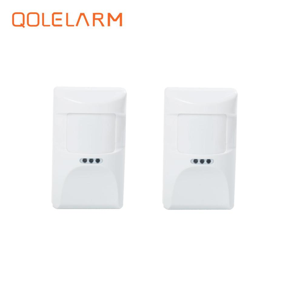 QOLELARM new 2pcs 433MHz Wireless pet immune anti-pet infrared sensor PIR motion detector for wi-fi gsm sms home alarm system