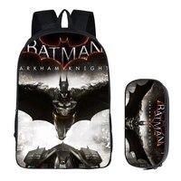 16 inch Super Hero Batman Backpack for Teenage Boys Kids Book Bag Travel Bag Children School Backpacks Pencil Bag Sets