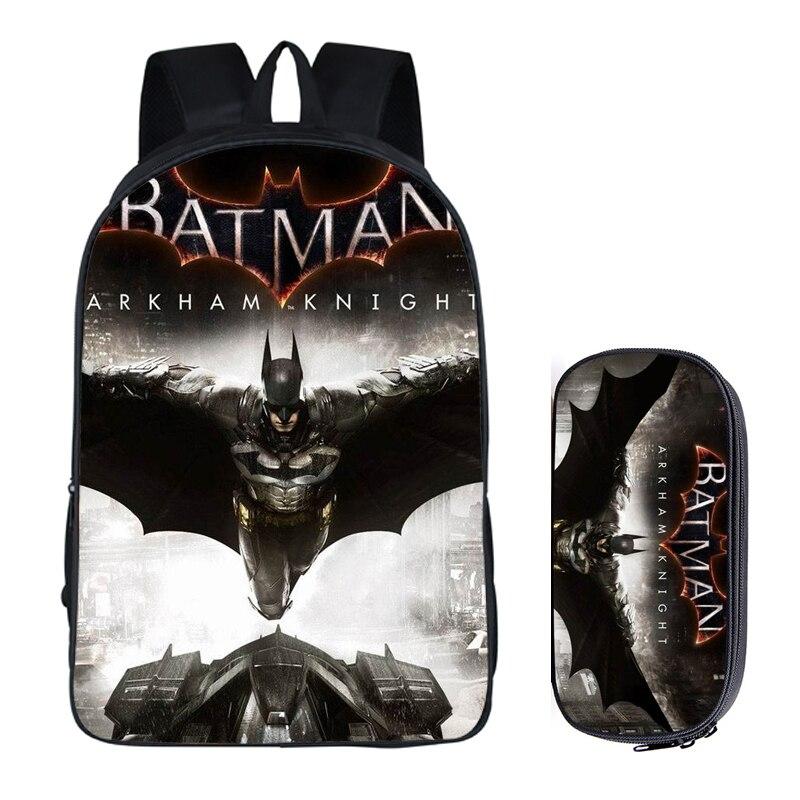 16 Zoll Super Hero Batman Rucksack Für Teenager Jungen Kinder Buch Tasche Reisetasche Kinder Schule Rucksäcke Bleistift Tasche Sets