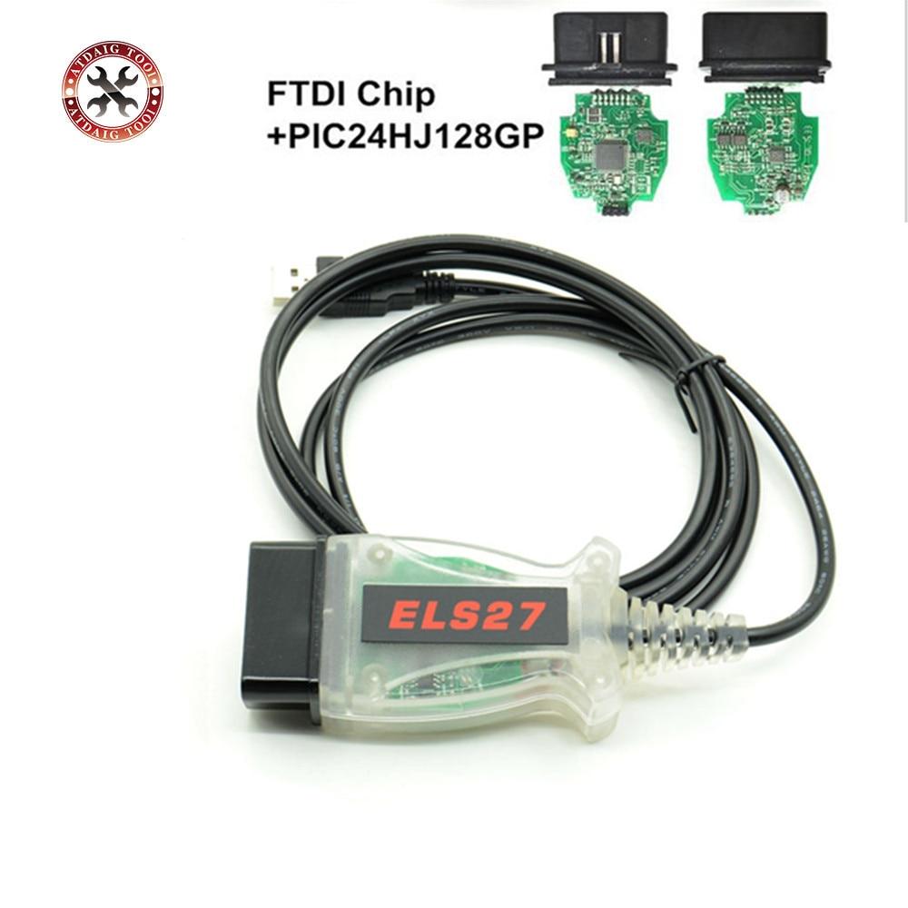 Prix pour ELS27 FORScan Scanner Pour Ford/Mazda/Lincoln/Mercury Véhicules ELS27 FORScan Scanner OBD2 Câble De Diagnostic Soutien ELM327 J2534