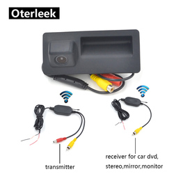 Bezprzewodowy samochód kamera specjalna dla AUDI A4 A5 S5 Q3 Q5 Auto pojazd samochodowy kamera cofania w Kamery pojazdowe od Samochody i motocykle na