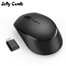 Jelly Comb ratón inalámbrico USB tipo C 2,4G, Mouse ergonómico recargable, 800/1200/1600 DPI, para Macbook Pro, portátil, PC