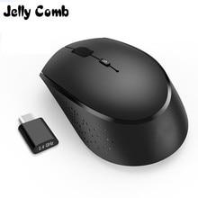 Jelly Comb souris ergonomique sans fil 2.4 ghz, USB type c, Rechargeable, 800/1200/1600 DPI, pour Macbook Pro, Notebook