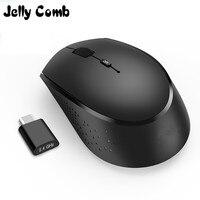 Jelly pente 2.4g usb tipo c mouse ergonômico recarregável sem fio rato 800/1200/1600 dpi ratos para macbook pro portátil computador portátil