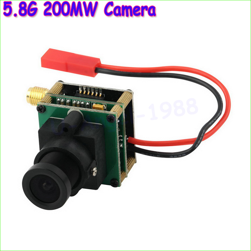 Wholesale 1pcs FPV 5.8G 200MW Camera AV Audio Video Transmitter Integrated New Dropship quadcopter fpv 5 8g 200mw camera av audio video transmitter integrated new digital 5 8 ghz transmitter fpv a676