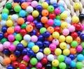 Joyería de Los Granos DIY Accesorios 6 MM Random Color de La Mezcla de Acrílico Redondo Granos Del Encanto Del Espaciador De Plástico Sólido Chunky Beads gumball