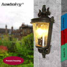HAWBERRY American Simple Outdoor Wall Lamp Waterproof Garden European Vintage Balcony Light Wall Mounted Hallway Light antique rustic iron waterproof outdoor wall lamp vintage kerosene lantern light rusty matte black corridor hallway wall light