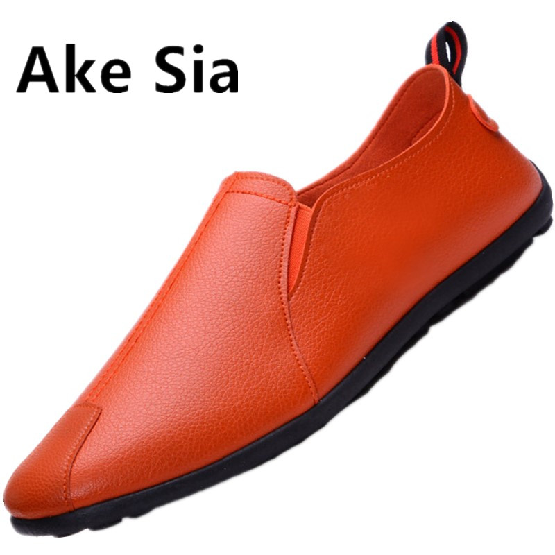 Ake Sia 2017 New Men Shoes Lace up Fashion Spring Summer men shoes Flats Solid Men Sneakers Casual blazer leather shoes men цены онлайн