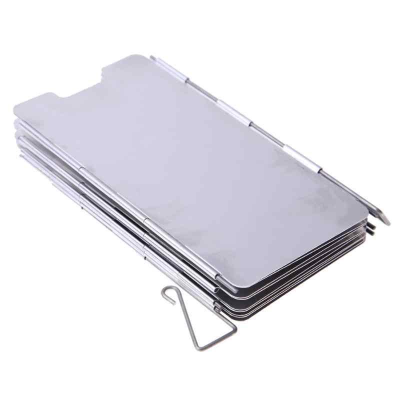 9 пластины складные плита лобовое стекло Открытый Кемпинг приготовления пищи газовая плита для барбекю из алюминиевого сплава для улицы Кемпинг приготовление ветра щит