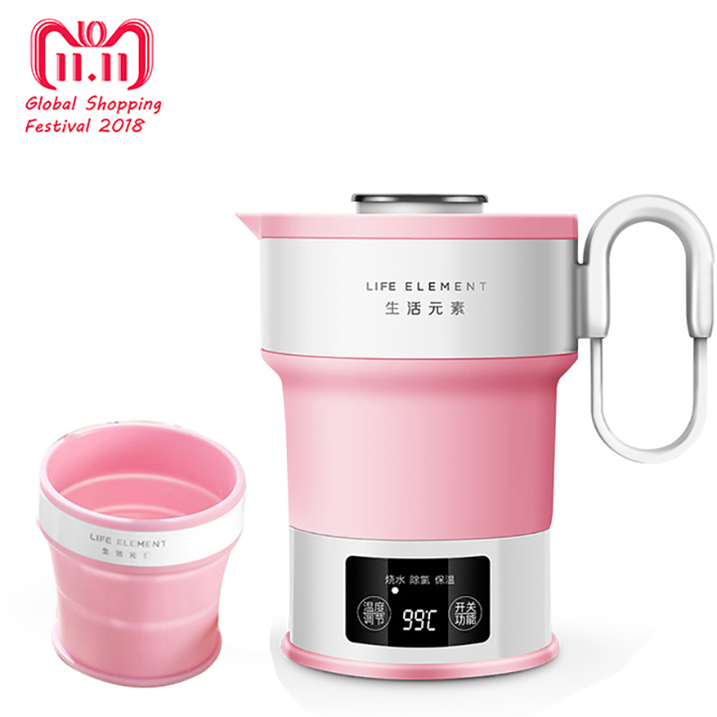 Electric Water Kettle Silicone Foldable Travel Kettlea Chaleira Portable Collapsible Water Boiler Home 110~240V