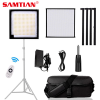 SAMTIAN FL 3030A Flexible luz led para vídeo iluminación dimmable 3200K 5500K foto lámpara llevó la luz del Panel para video|Kit de iluminación fotográfica| |  -