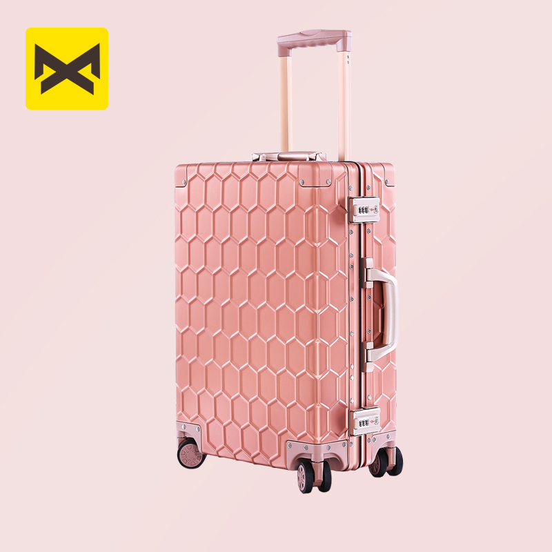Banlosen 100% Aluminum Alloy Luggage Business Travel TSA Lock Cabin Trolley Metal Suitcase Carry On Luggage 20
