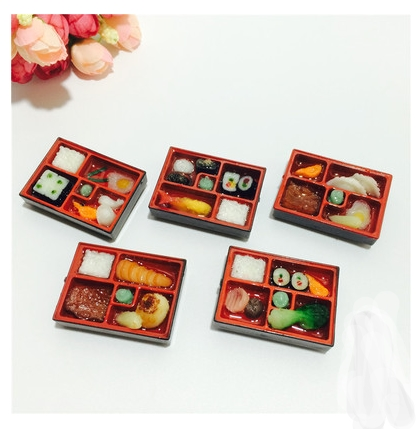 Creative lovely three-dimensional simulation of sushi food lunch food silicone fridge magnet