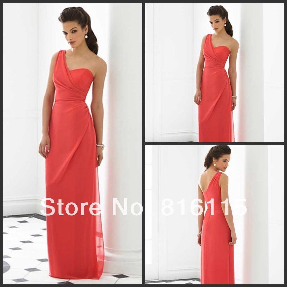 Dessy chiffon bridesmaid dresses reviews online shopping dessy after six bridesmaid dress watermelon elegant one shoulder sweetheart bodice chiffon dessy bridesmaid dresses long free shipping ombrellifo Image collections