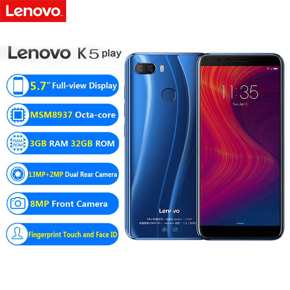 Lenovo K5 Play 4G Cellular Cellphone Cellphones Telecommunications Rear 13Mp Entrance Digicam 8Mp Smartphone Android Unlocked Sensible Cellphone