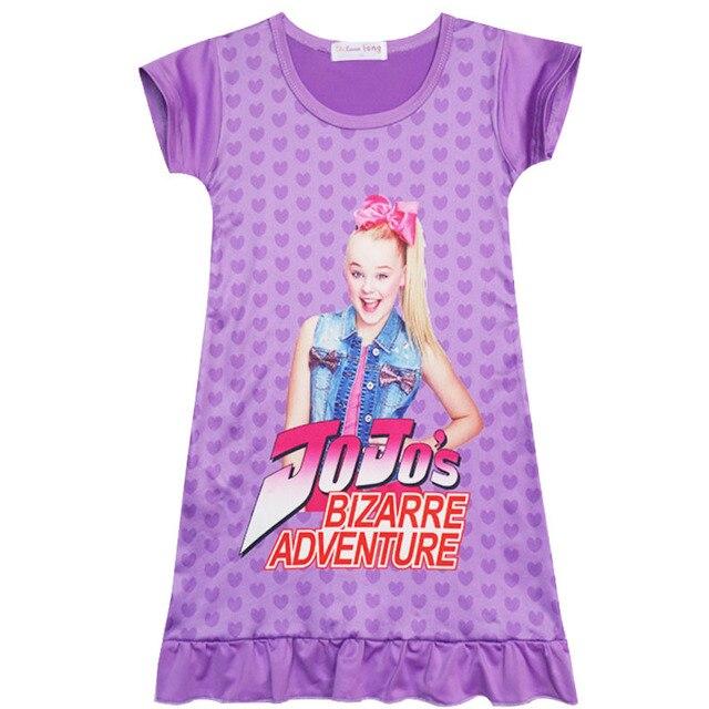 7515fb6909fc4 US $4.8 20% OFF|Girls nightdress New 2018 Summer Fashion Princess cartoon  Dresses kids siwa sleep Dress children nightgown lovely girl gift-in  Dresses ...