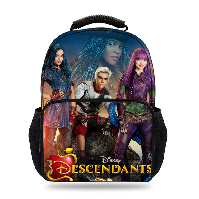f6723690406 Mochila Children Cute 3D Movie Descendents 2 characters Backpack Printed school  bags for girls Teenager Travel Books Rucksack