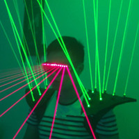Green Laser Man Luminous Vest Waistcoat With 20pcs Lasers Red Laser Glasses Laser Show Laserman Costume Clothes