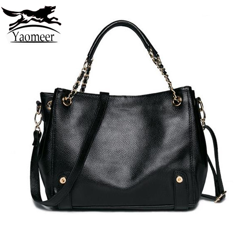 New Fashion Women's Shoulder Crossbody Bag Female European Designer Genuine Leather Handbags Black Soft Cow Messenger bags Totes
